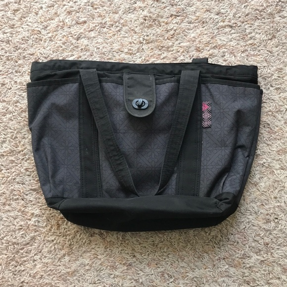 adidas Handbags - Adidas black and gray/purple tote bag